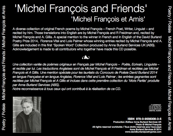 Michel Francois CD back cover